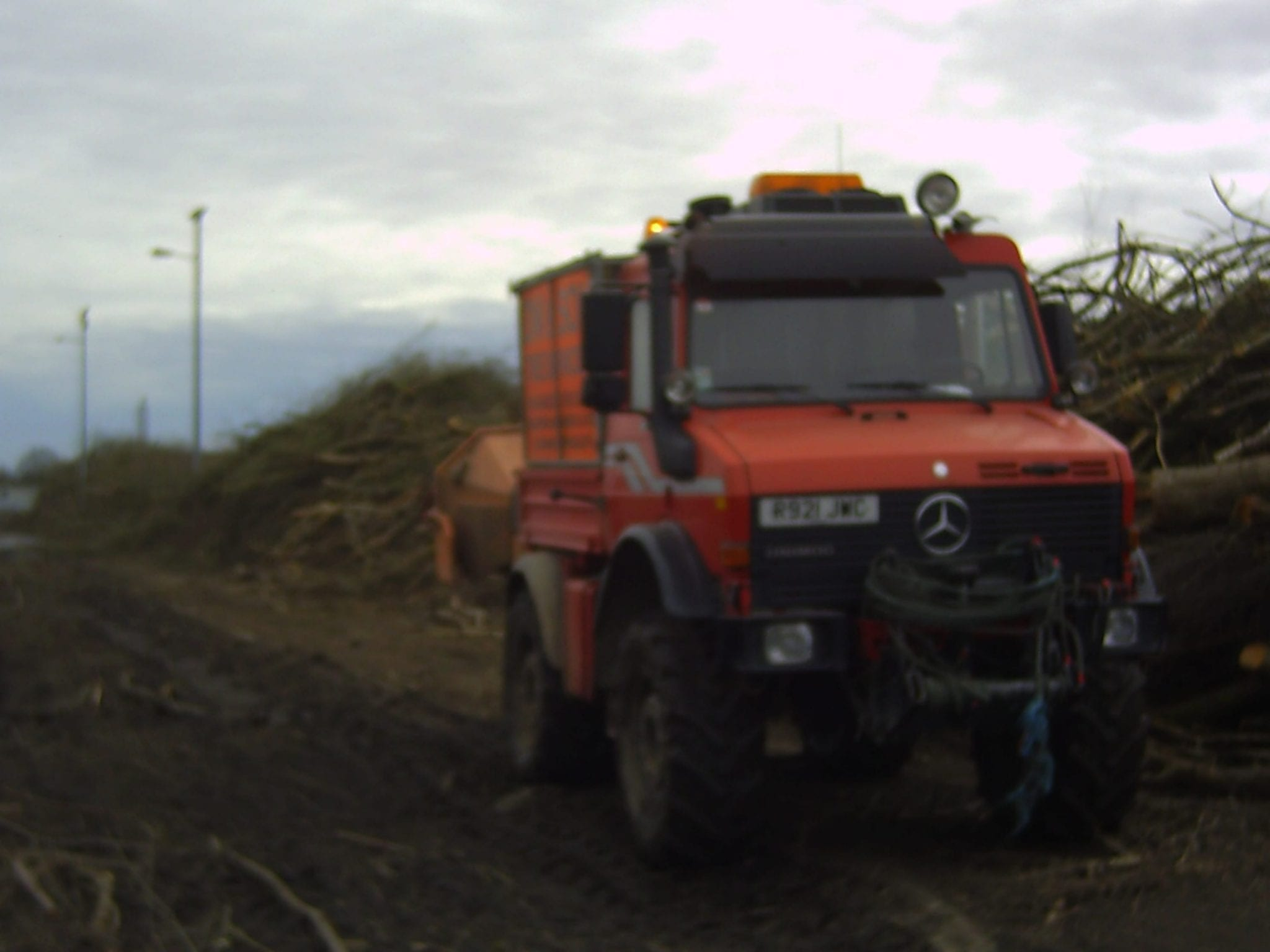 Unimog on tree clearence job for D W Tree Services
