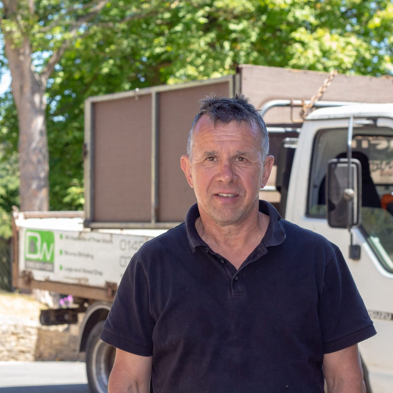Photo of David owner and tree surgeon at D W Tree Services